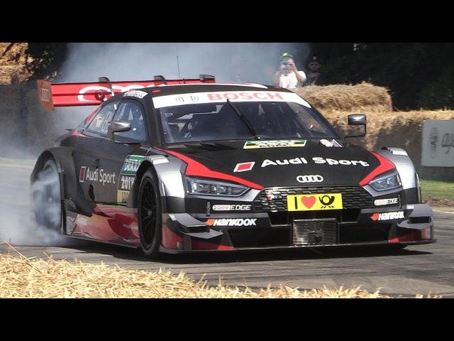 Audi RS5 DTM 2017 Sound - Accelerations Burnouts!
