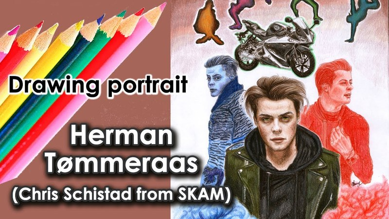 HERMAN TØMMERAAS speed drawing - Chris Schistad from SKAM