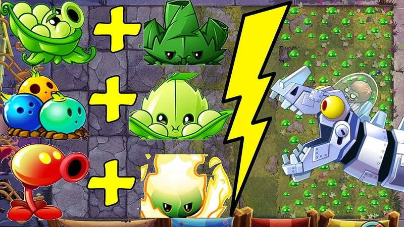 Plants vs Zombies 2 BattleZ Sling Pea Pvz 2 Vs Zombot Dinotronic Mechasaur.