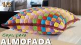Capa para almofada com sobras de fios Croch