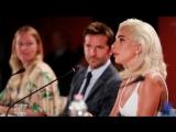 Леди Гага и Брэдли Купер на пресс-конференции в Венеции