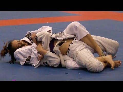 Girls Grappling Gi @ IBJJF Women Wrestling Female BJJ MMA Fighters