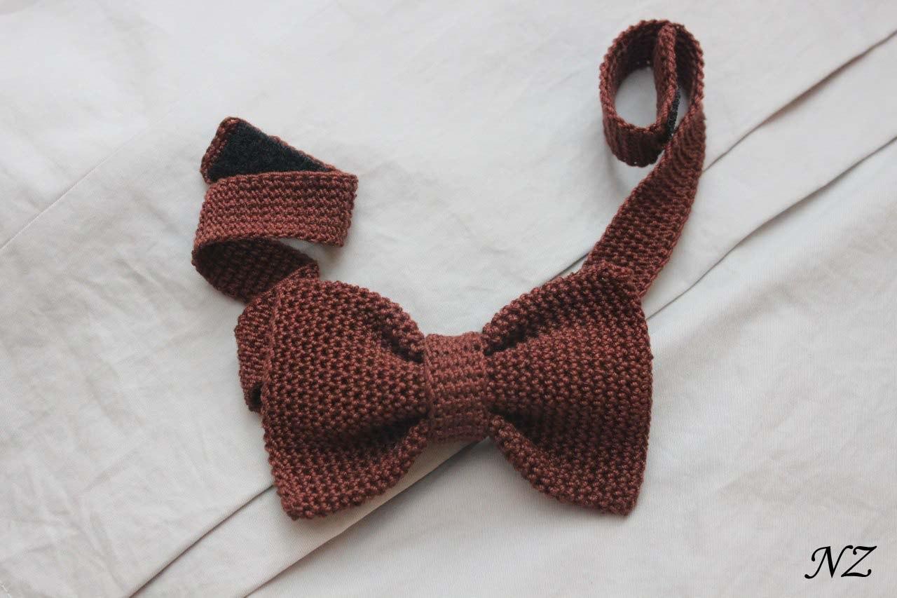 вязаные галстуки бабочки купить