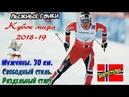 Лыжные гонки. Кубок мира 2018-2019 Мужчины. 30 км. Свободный стиль. Раздельный старт