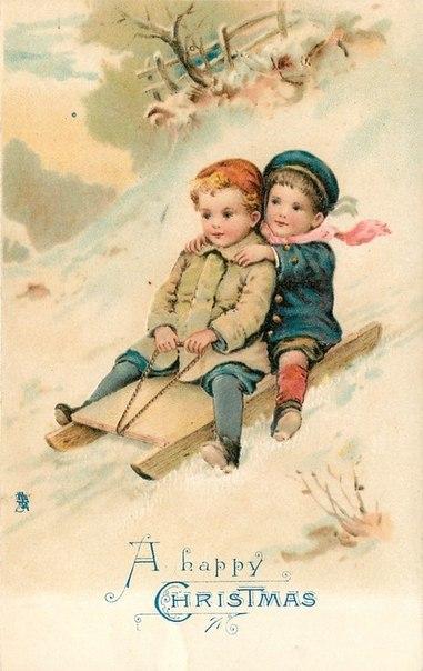 Очаровательные старинные открытки с изображением детей.