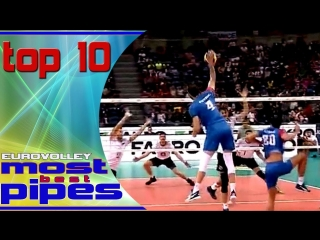 top 10 most powerful pipes - EUROVOLLEY 2017 Poland -