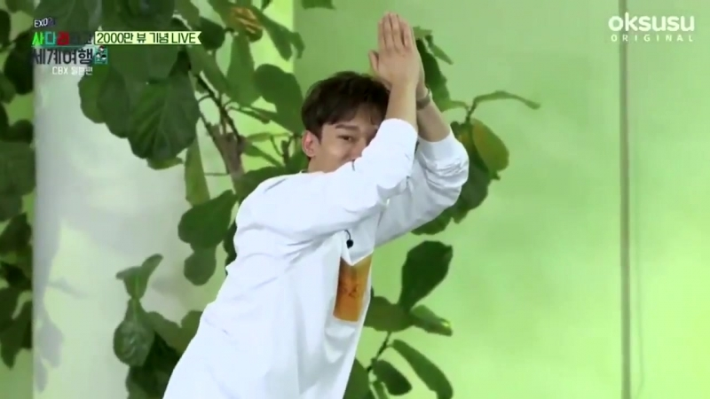 180719 EXO Chen Baekhyun Xiumin - Baby Shark Song @ Travel The World on EXOs Ladder Special Broadcast