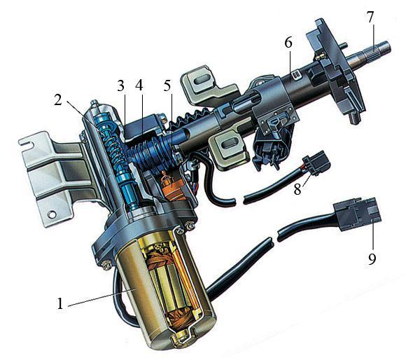 рейку рулевого механизма.