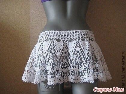 Пляжная юбка крючком, схема