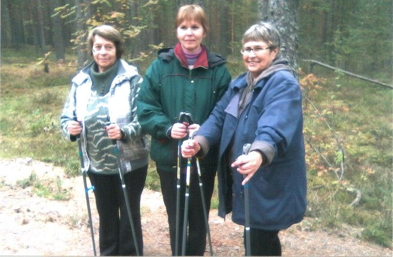 Лучшие участницы соревнования по скандинавской ходьбе