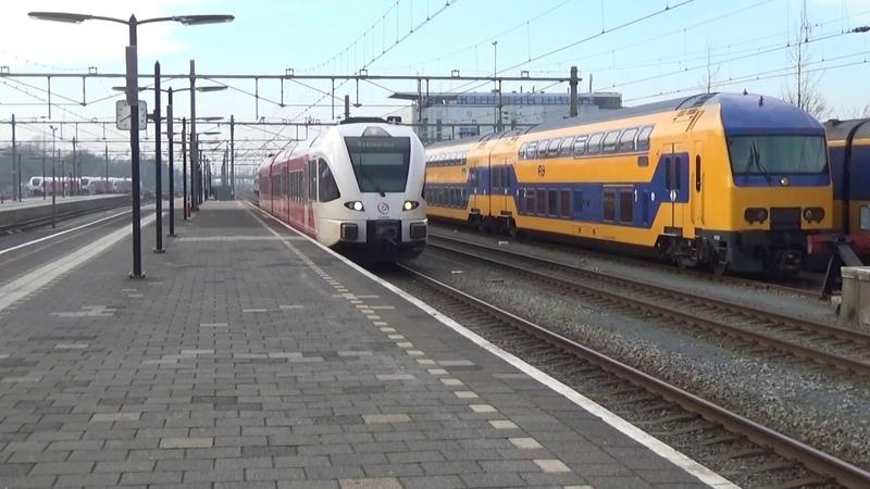 Arriva GTW 335 komt aan in Leeuwarden