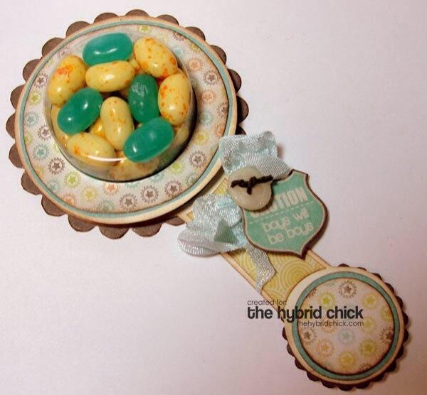 Детская погремушка с конфетами из бумаги. Мастер-класс…. (10 фото) - картинка