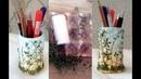 Карандашница из яичных лотков, тубы от туалетной бумаги и растений.