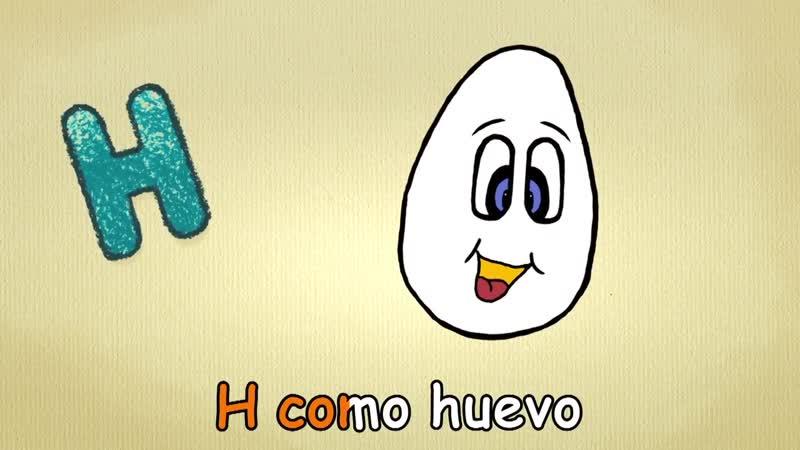 Alfabeto en español para niños - La letra H - canción musica para estudiar español