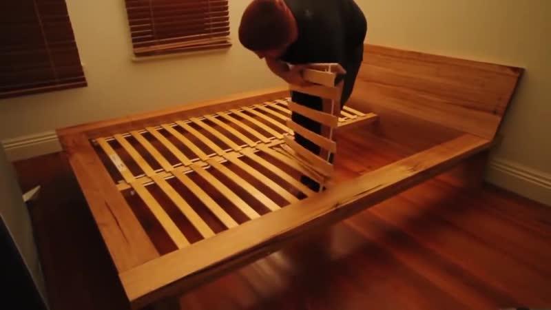 Кровать своими руками из дерева в спальню