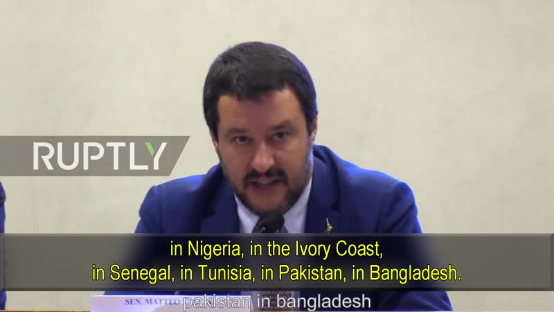 Salvini reads the riot act on criminal migration to Italy.