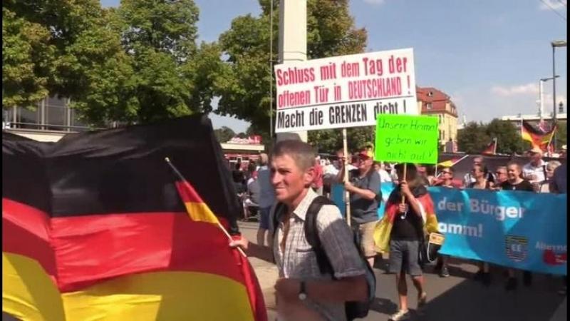 Немцы митингуют против показной толерантности