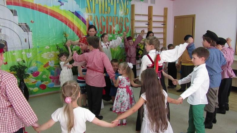 В православном детском саду Купелька - гости. Ансамбль Тимоня, Православная гимназия, г. Калининград.