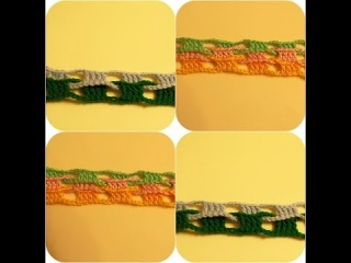 Узор для шарфа крючком (crochet pattern for a scarf)