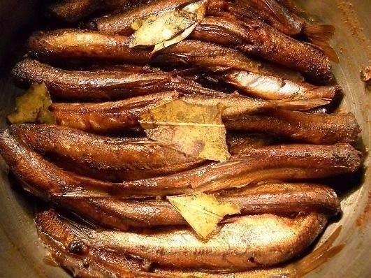 ВКУСНЫЕ ДОМАШНИЕ ШПРОТЫ 1 кг свежемороженой кильки (мойвы) 1