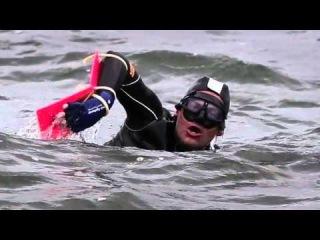 Американец Джим Драйер (Jim Dreyer) проплыл 35 километров с тонной кирпичей