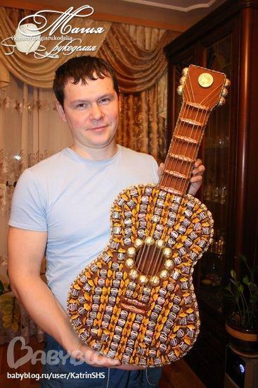 Как сделать гитару своими руками из картона пошаговое фото 88