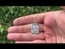 Пробный шурф. Серебро, стекло и монеты!