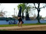 Push-up in the handstand | Отжимания в стойке на руках