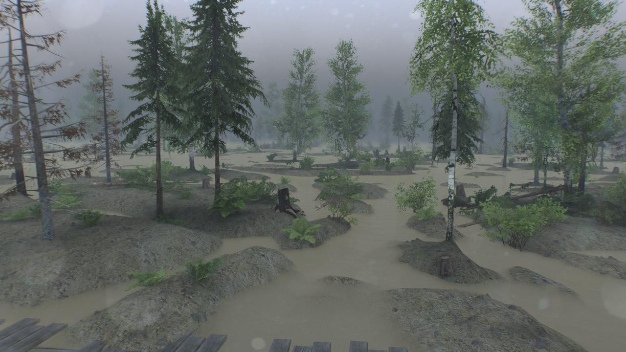 """Карта """"Swampy_map 1.1"""" для 25.12.15 для Spintires - Скриншот 1"""