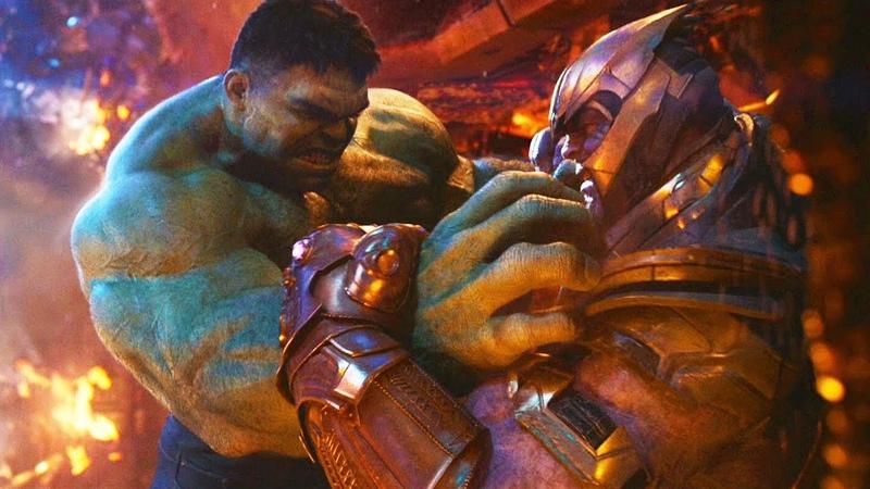 Халк против Таноса | Мстители Война бесконечности (HD Момент)
