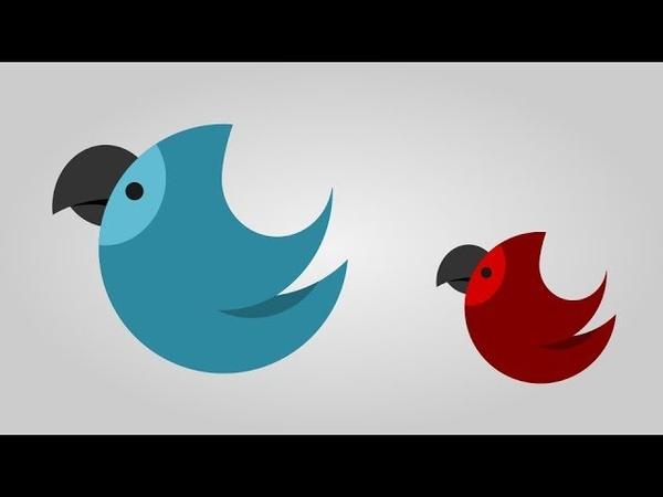 Bird Icon in Inkscape