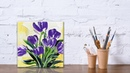 Paint Tulip flowers with Acrylic Paints and a Palette Knife PART 2
