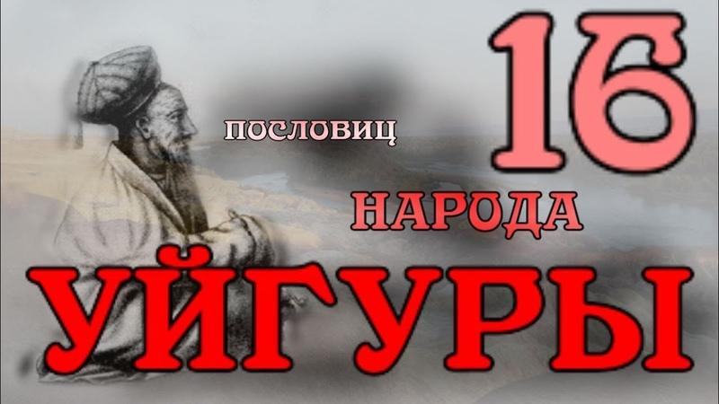 16 пословиц народа Уйгуры