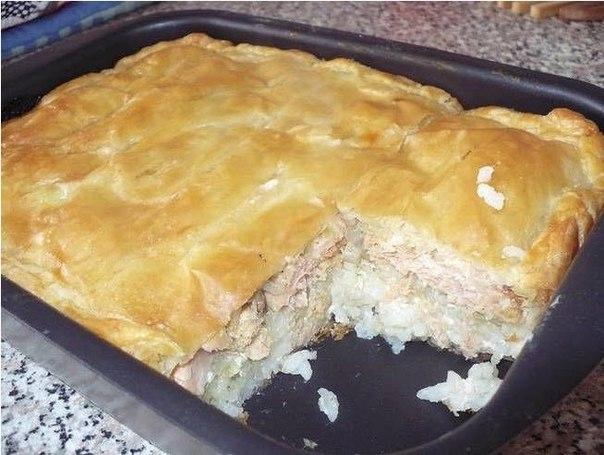 Рыбный пирог — вкуснотище! Сегодня испекла рыбный пирог,