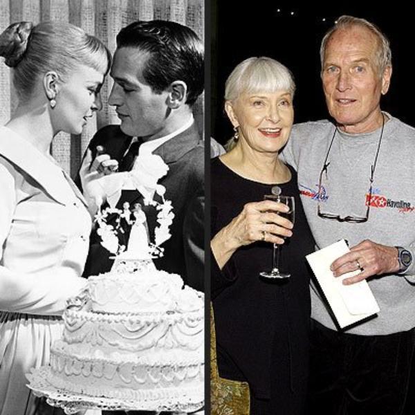 Пола Ньюман своей жене в день их свадьбы.