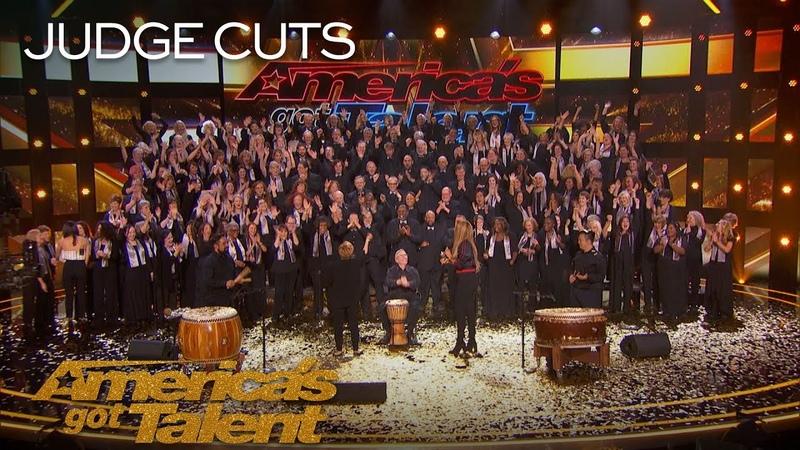 Angel City Chorale Amazing Choir Earns Golden Buzzer From Olivia Munn - America's Got Talent 2018