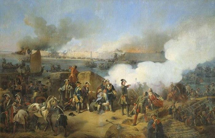 А. Е. Коцебу Штурм крепости Нотебург 11 октября 1702 года.