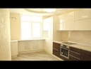 Кухня МДФ покраска. Видео №3. Фурнитура Блюм. Угловая кухня, столешница пластик. Угловая мойка.