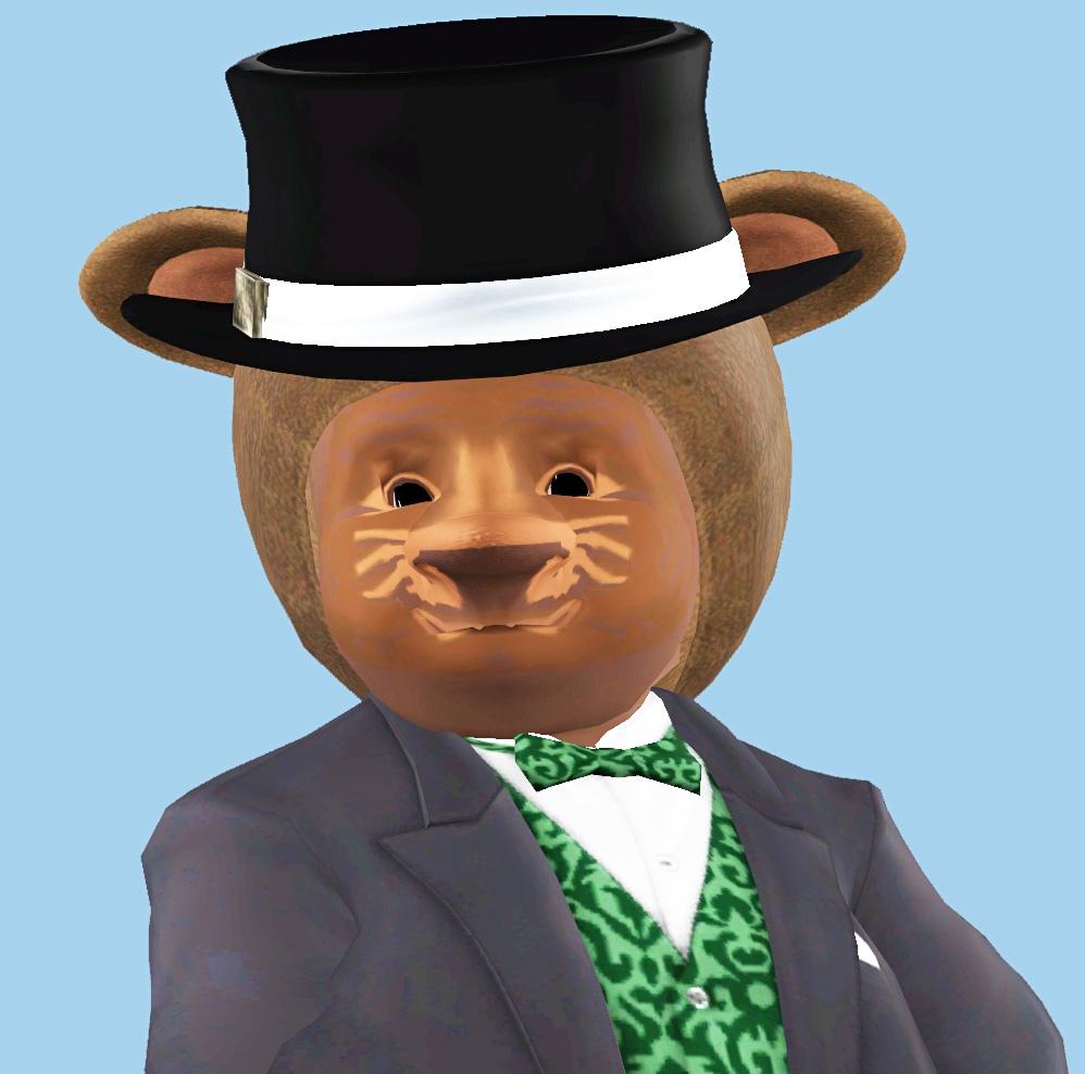 персонаж для Симс 3 - медведь Миндаль