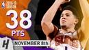 Devin Booker Highlights Suns vs Celtics 2018.11.08 - 38 Pts, 9 Ast, 3 Rebounds!