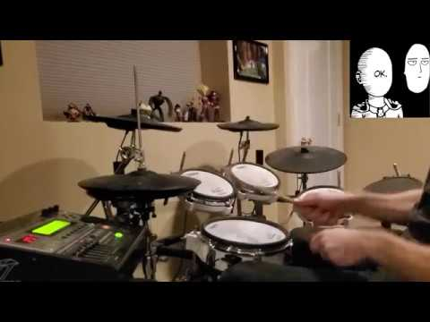 One Punch Man OP【ワンパンマン OP】 - THE HERO !! 【JAM Project】 - Full Drum Cover