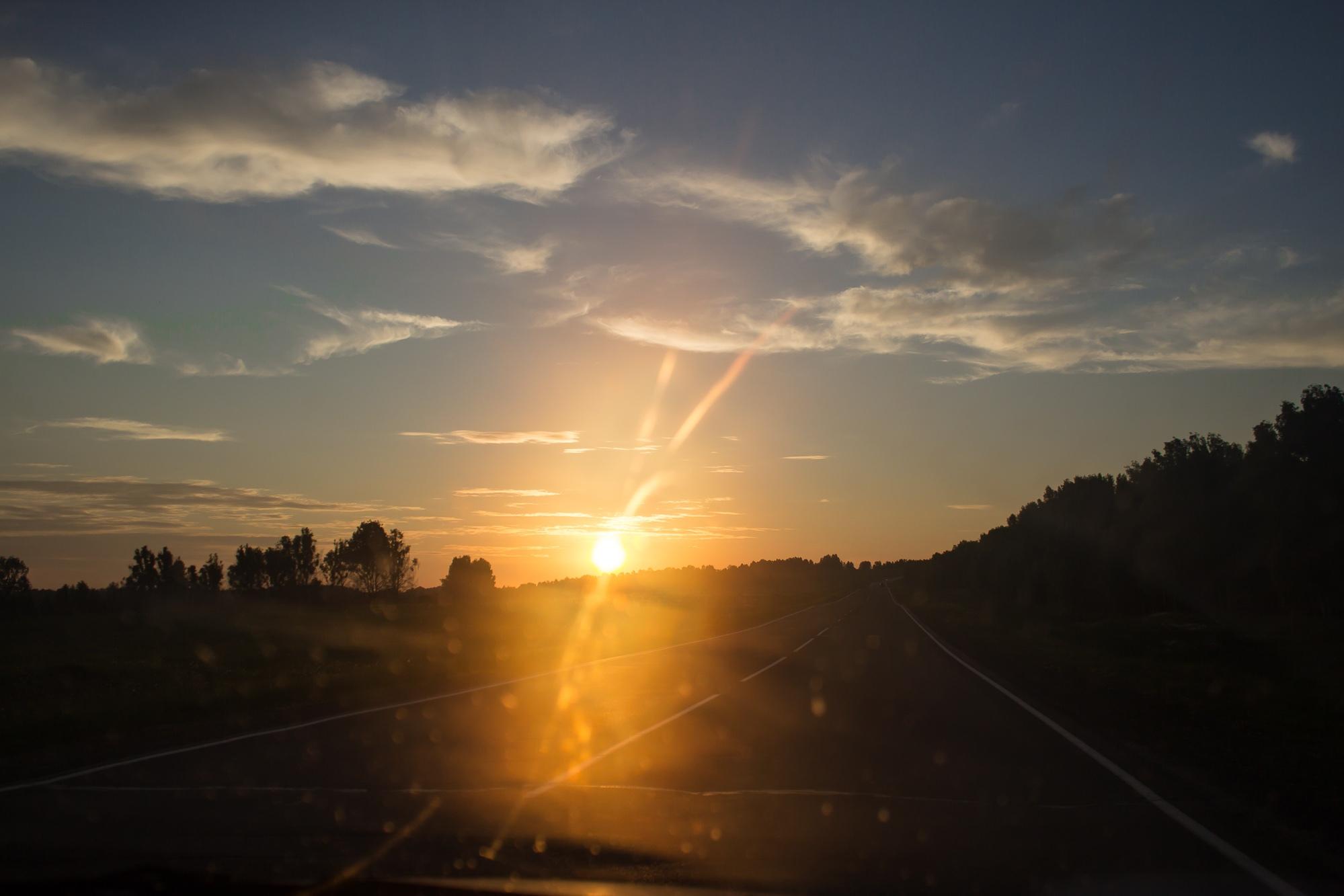 Солнце садится