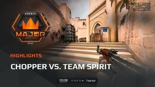 Highlights: Chopper vs Team Spirit, FACEIT Major: London 2018 - New Challengers Stage