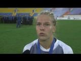 Игрок женской сборной России по регби-7 Снежанна Кулькова о победе в чемпионате Европы.