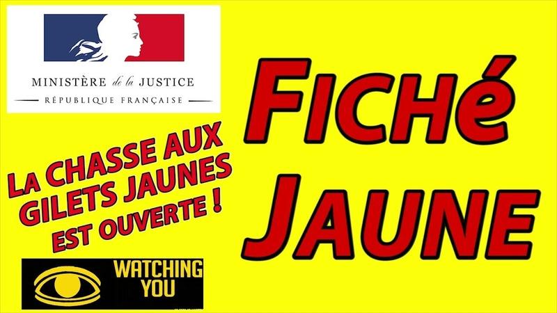 FICHé JAUNE - La chasse aux GILETS JAUNES est ouverte !
