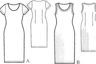 кто-нибудь поделится опытом в кройке и шитье платьев? самых простых, хотя бы, типа вот этого.  Платья.