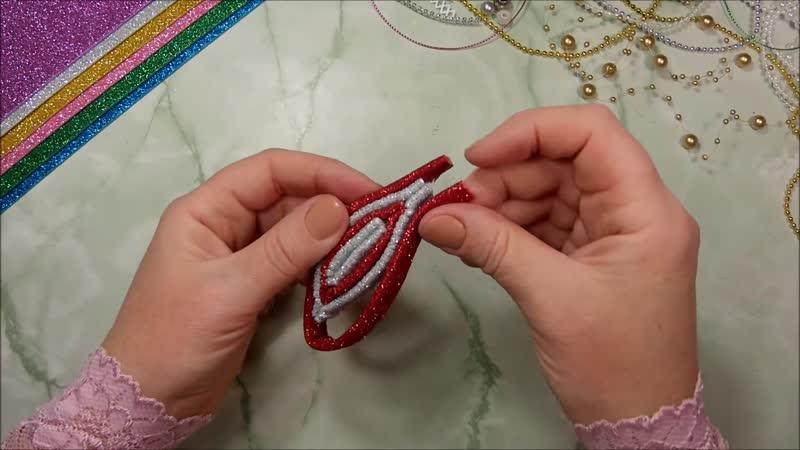Ёлочные игрушки из фоамирана своими руками diy christmas ornaments[Full HD,1920x1080](1)