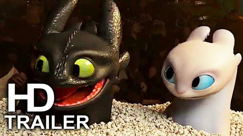HOW TO TRAIN YOUR DRAGON 3 Toothless Light Fury Date Scene Trailer (2019) Animated Movie HD