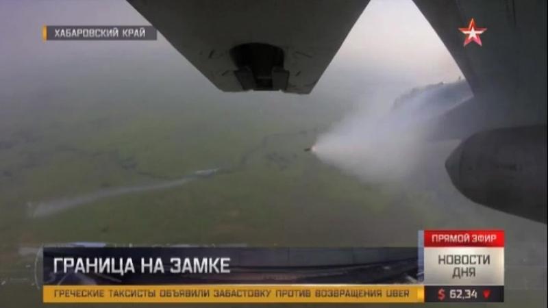 Воздушная дуэль: как поднятые по тревоге Су-35С и Су-30СМ обнаруживают «противника»