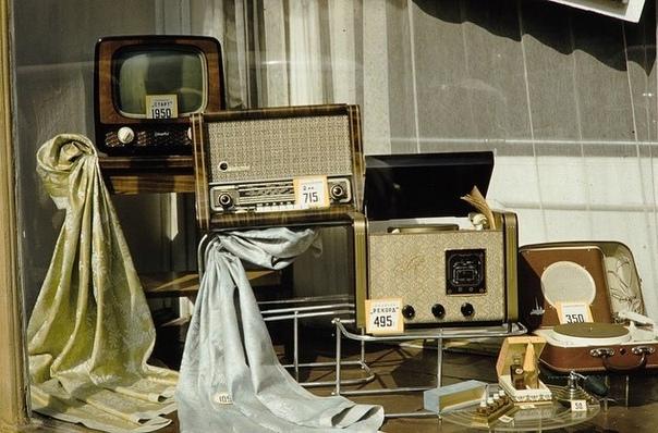 Московские витрины,1959 год. Спасибо за и подписку Фото Харрисона Формана